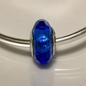 Pandora Faceted Blue Murano Glass Charm